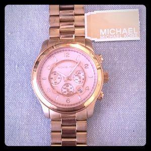 Rose Gold Michael Kors oversized face watch
